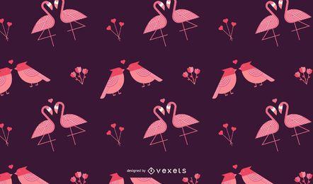 Design de padrão de pássaros dos namorados