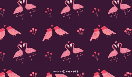 Valentine's birds pattern design