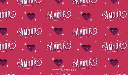 Diseño de patrón de amor de San Valentín
