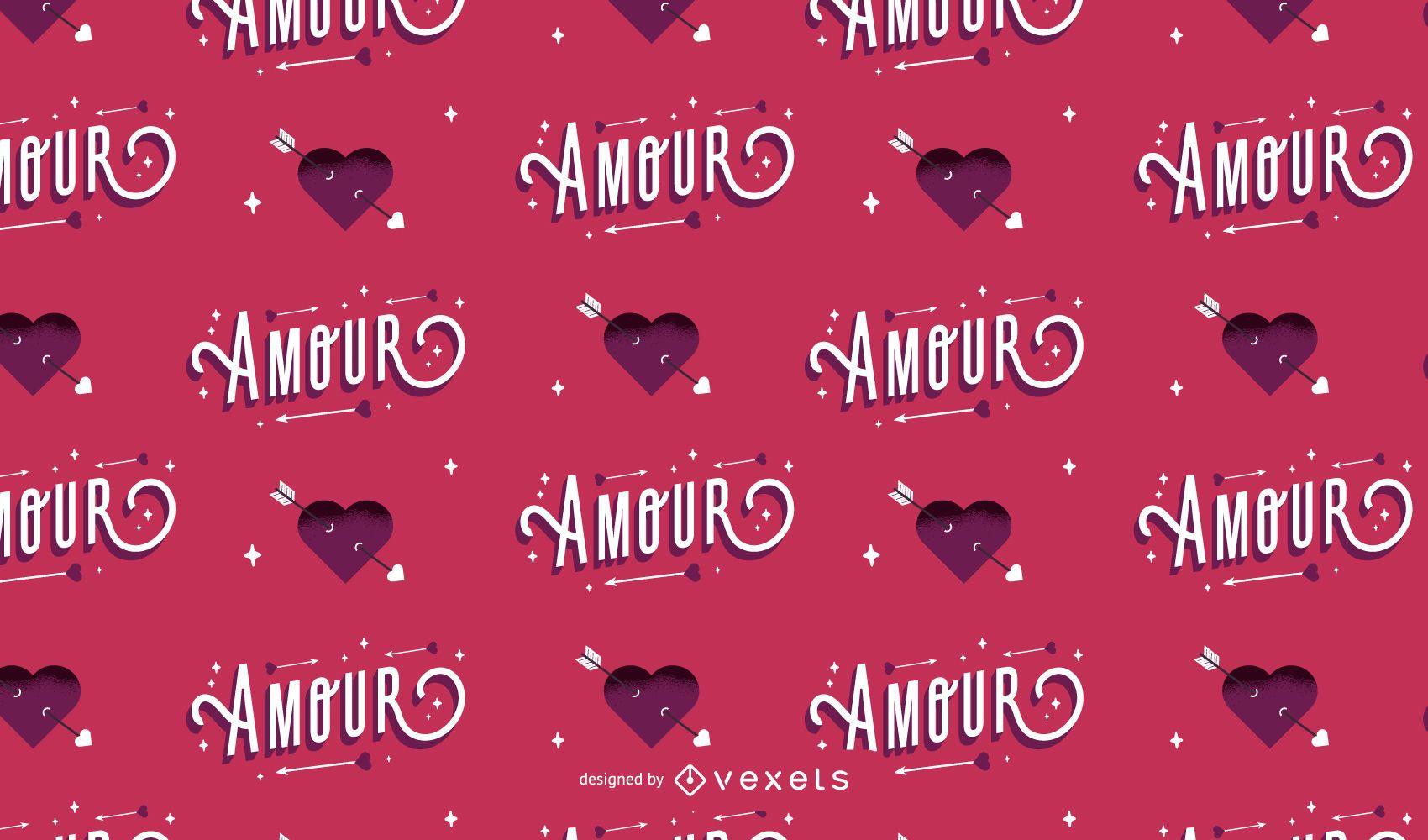 Diseño de patrón de amour de San Valentín