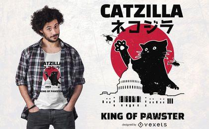 Design de t-shirt de Catzilla