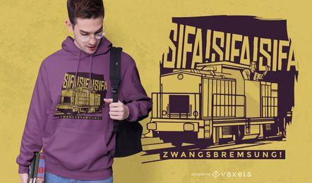 Design de camiseta de trem sifa