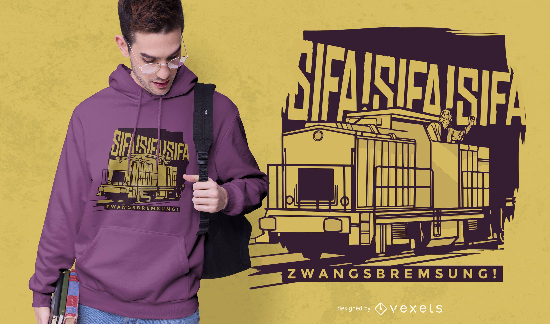 Diseño de camiseta de tren sifa