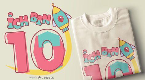 Diseño de camiseta Ich bin