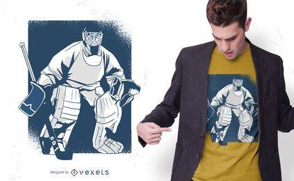 Design de t-shirt de hóquei no gelo