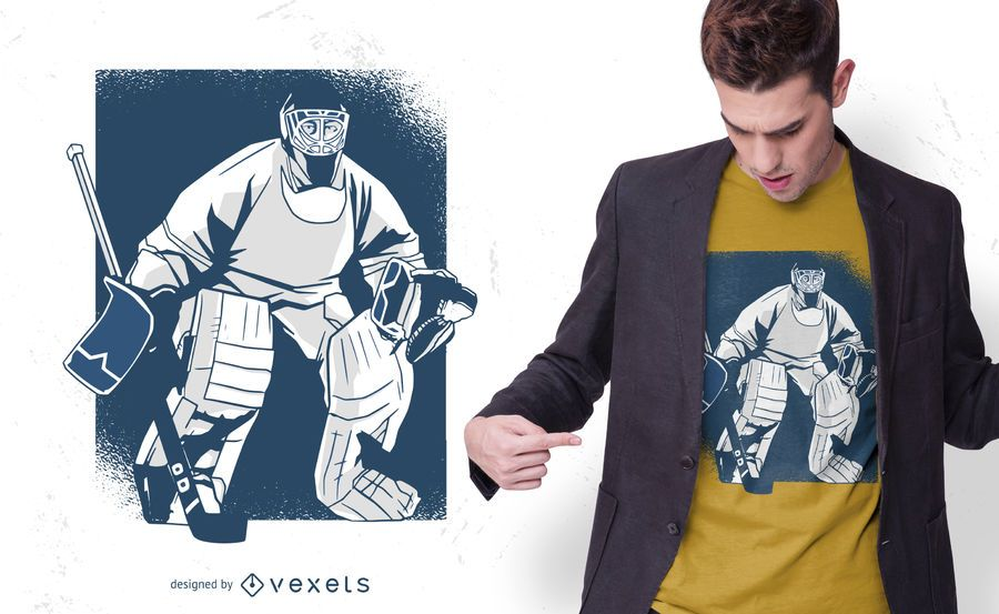 Ice hockey t-shirt design