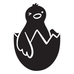 Chick winking icon