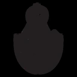 Icono de guiño de pollito