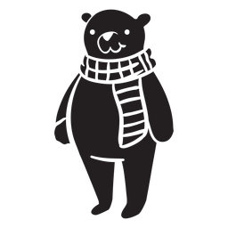 Bear cartoon standing