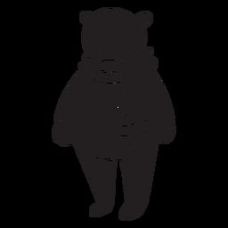 Urso de pé dos desenhos animados
