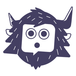 Yeti Silhouette Aufkleber