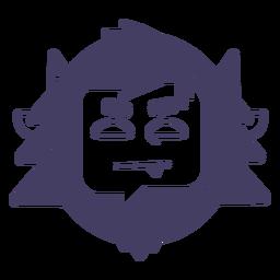 Silhueta de etiqueta Yeti