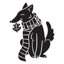 Animal silhouette fox