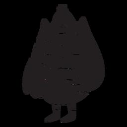 Coruja silhueta animal