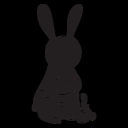 Conejo silueta animal