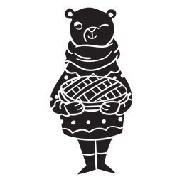 Animal silhouette rodent