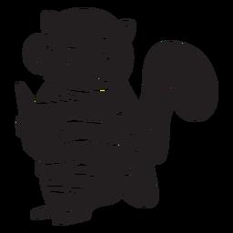 Esquilo de silhueta animal