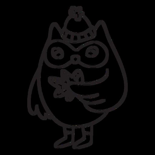 Animals stroke owl