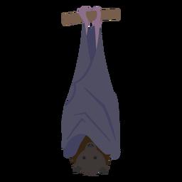 Desenho de morcego plana
