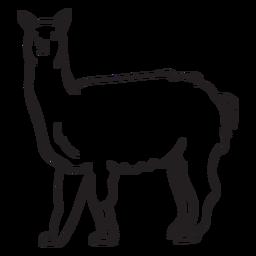 Personaje blanco y negro lama