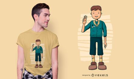 Diseño de camiseta de boy scout
