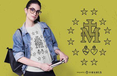 Diseño de camiseta medalla de oro.
