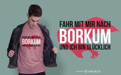 Design de t-shirt Borkum