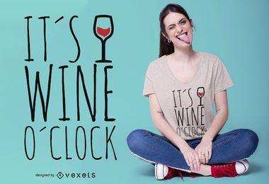 Diseño de camiseta Wine en punto