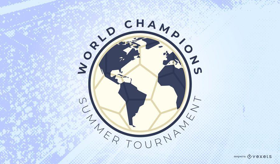 Soccer tournament logo template