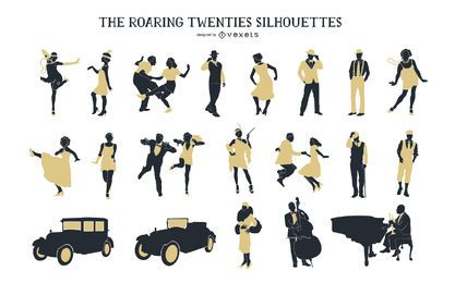 Vintage 1920s People Silhouette Pack