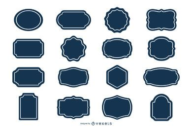 Blank Label Aufkleber Set