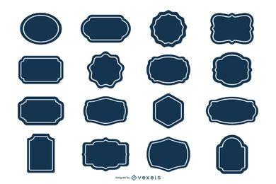 Conjunto de adesivos de etiqueta em branco