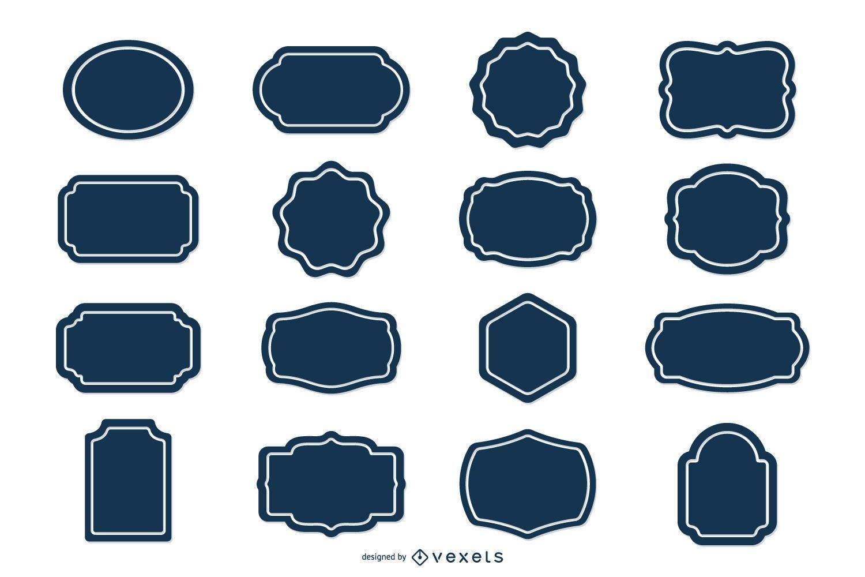 Blank Label Sticker Set