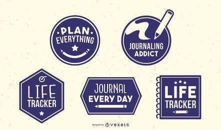 Journaling-Abzeichen packen