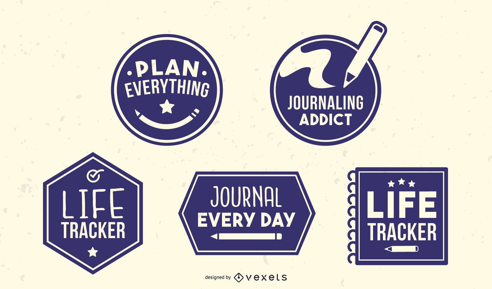 Paquete de insignias de diario