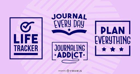 Journaling-Abzeichen festgelegt