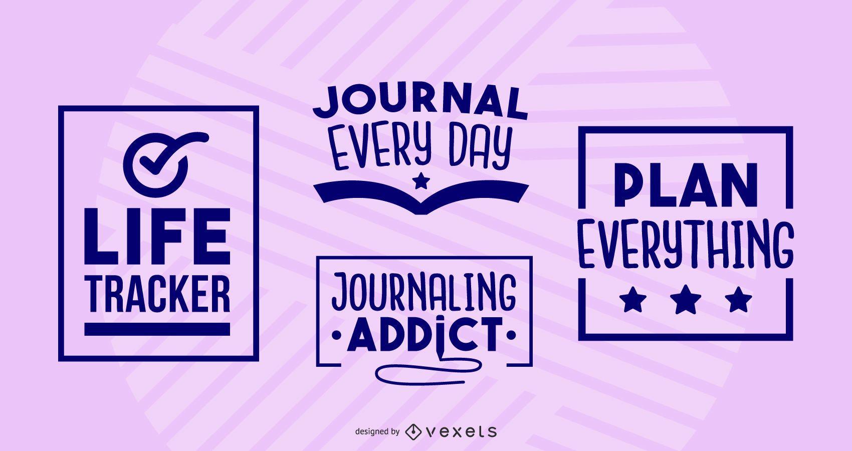 Journaling badges set