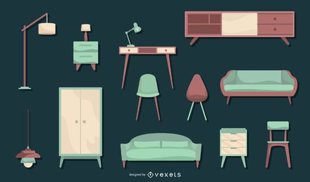 Nordic Furniture Flat Design Set