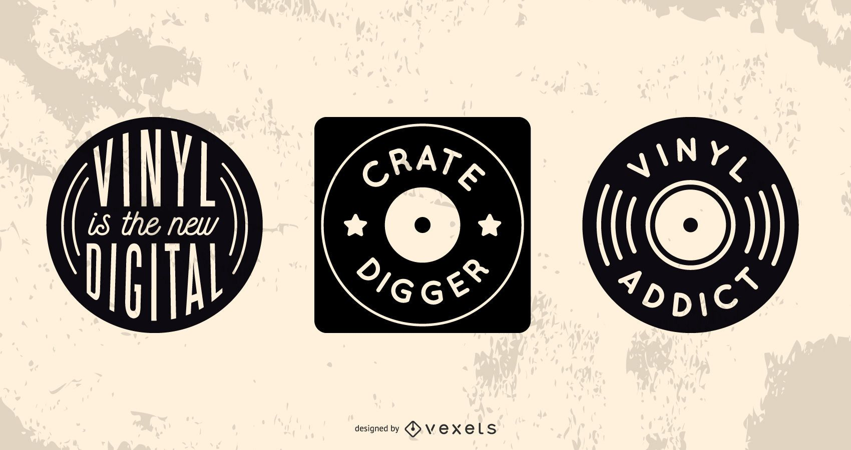 Record collector badge set