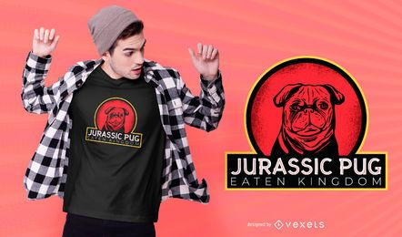 Jurassic pug t-shirt design