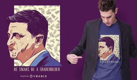 Design de camiseta do acionista