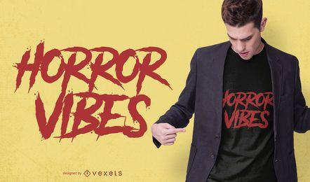 Design de t-shirt de vibrações de horror