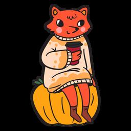 Cartoon flat fox
