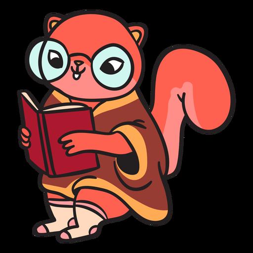 Cartoon flat squirrel