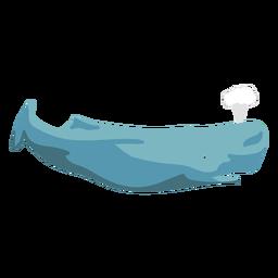 Ballena plana de dibujos animados