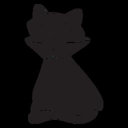 Silhueta de gato halloween