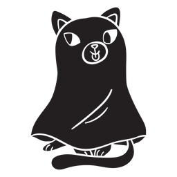 Cat halloween silhouette ghost