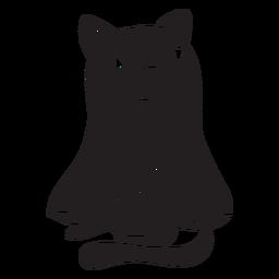 Gato halloween silueta fantasma