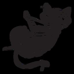 Cat halloween silhouette mummy