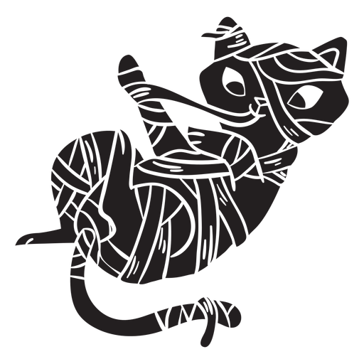Gato halloween silhueta múmia Transparent PNG